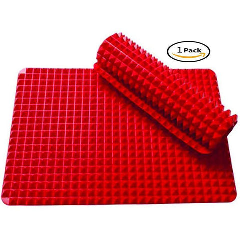 Silicone Healthy Cooking Baking Mat Non-stick, Red 1 Piece by Jollylife - Happidtime