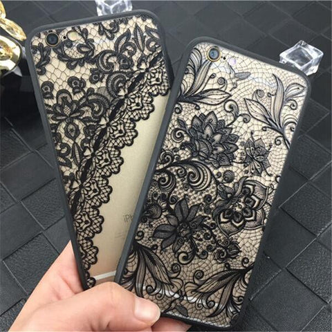Luxury Sexy Lace Floral Henna Mandala Palace Flowers Phone Case For iphone 5s Cover For iphone X 5s 5 SE 6 6s 7 8 Plus - Happidtime