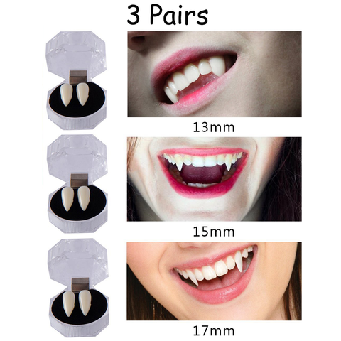 Halloween Party Vampire Fangs Teeth - Horror Zombie Costume Cosplay Supplies Decorations Props - Happidtime