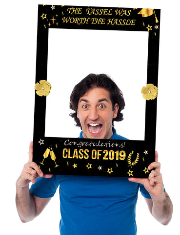 2 in 1 Graduation Photo Frame Party Supplies 2019 Booth Prop Decorations