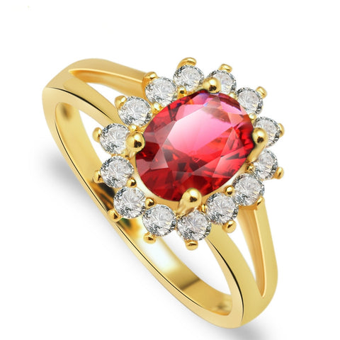 Gold Color Fashionable Ring jewellery Cubic Zirconia Crystal Rings