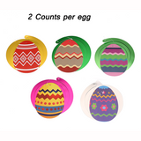 30Ct Easter Decorations Egg Bunny Hanging Swirl Foil -- Party Ornaments Supplies - Happidtime