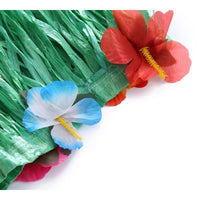 2PCS Hawaiian Luau Table Skirt Decorations Grass Hula