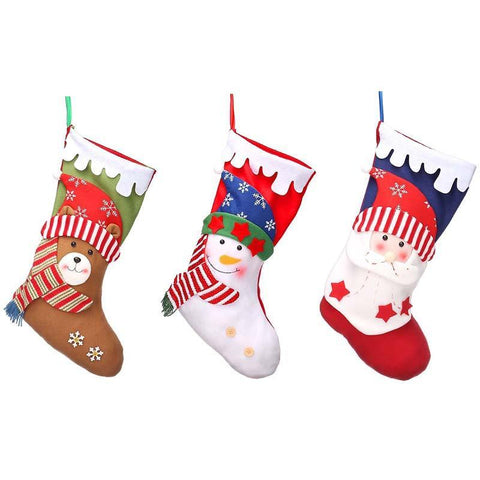 3 PCS Christmas Stockings 18