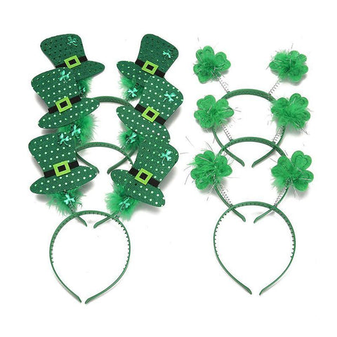 St. Patrick's Day Snap-on Headband Green Head Boppers - Happidtime