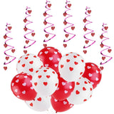 Balloon Decorations for Wedding Birthday Bridal Shower Anniversary Engagement Party and More, 6pcs Hanging Hearts and 20pcs Balloons