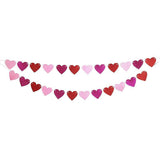 glitter heart banner,valentines day decoration