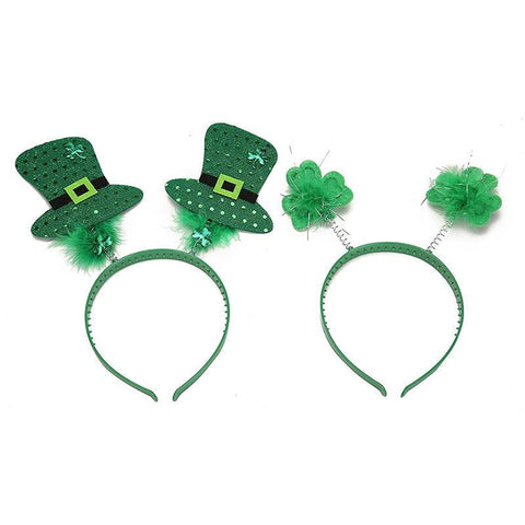 St. Patrick's Day Snap-on Headband Green Head Boppers