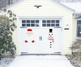 Christmas Decorations Snowman/Santa Claus Door Wall Window Clings Stickers Decals - Winter Wonderland/Xmas/Room Decor - Happidtime