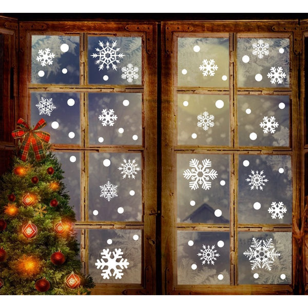 Christmas Snowflakes Window Clings Decal