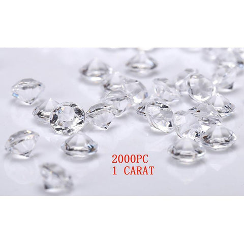 Jollylife 2000 Diamond Table Confetti Wedding Bridal Shower Party Decorations 1 Carat/ 6.5mm Clear - Happidtime