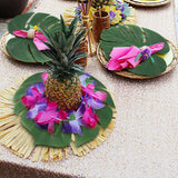 Moon Boat Tropical Palm Leaves Plant Imitation Leaf-Hawaiian/ Luau/Jungle Party Table Decorations (66PCS)