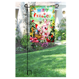 Easter Garden Flag - Bunny Eggs Yard Decoration Briarwood Lane - Happidtime