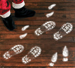128PCS Christmas Decorations Footprints Party Decals Clings Floor Stickers - Xmas Santa Claus / Elf / Reindeer