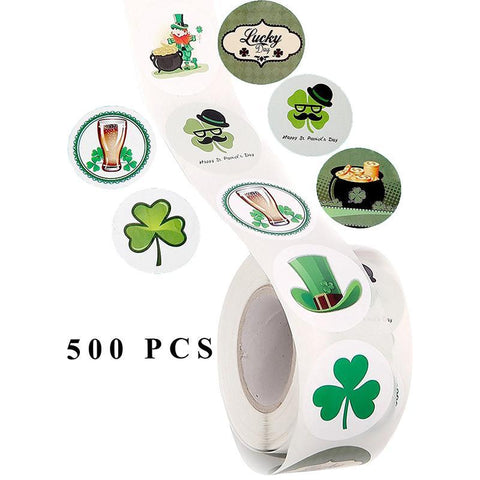 St. Patrick's Day Stickers Labels Roll