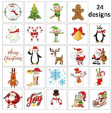 144PCS Assorted Christmas Temporary Tattoos Stocking Stuffers - Xmas Kids Goodie/Gift bags favors - Happidtime