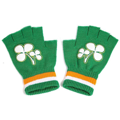 St. Patrick's Day Fingerless Gloves