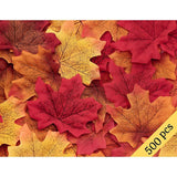 500PCS Fall Artificial Maple Leaves Decorations - Thanksgiving Autumn Leaf Wedding Party Table Decor - Happidtime