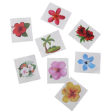 72 PCS Glitter Hibiscus Temporary Tattoos - Happidtime
