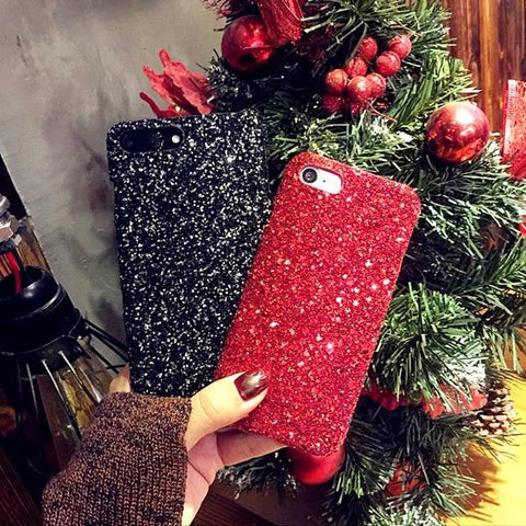 Luxury Sexy Diamond Bling Glitter Bling Shining Flash Powder Sequins Sparkle Cover Case For iPhone X 8 7 6 6s Plus 5 5S SE - Happidtime
