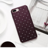Matte Chic Polka Dot Wave Point Case For iPhone 5 6 7 8 Plus X - Happidtime