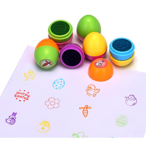 12 Ct Easter Egg Stampers Toys for Kid's - Happidtime
