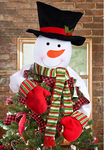 Christmas Tree Topper Snowman Hugger - Xmas/Holiday/Winter Wonderland Party Decoration Ornament Supplies