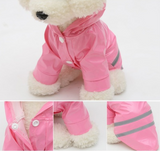 Pet Dog Hooded PU Raincoat Outdoor For You - Happidtime