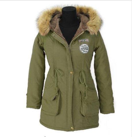 Parkas Winter Jacket Women Coats Female Outerwear Casual Long Down Cotton Wadded - Happidtime