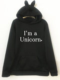Women Hoodie  Print Unicorn Long Sleeve  Sweatshirts Jumper