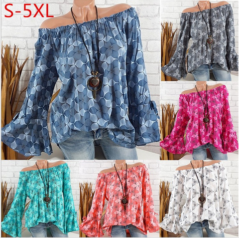 The Loose  Blouse   Printed Chiffon Sleeve Chiffon