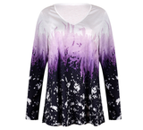 Women Plus Size Top   Printed Casual Long Sleeve