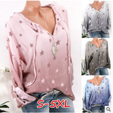 Fashion Women Causal Sexy Plus Size Long Sleeve Loose Pullovers