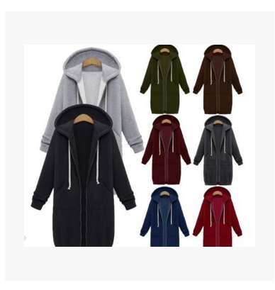 Oversized  Women Casual Long Hoodies Sweatshirt Coat