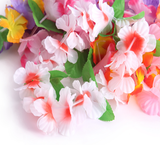 24PCS Hawaiian Mahalo Flower Headband Headpiece Leis- - Happidtime
