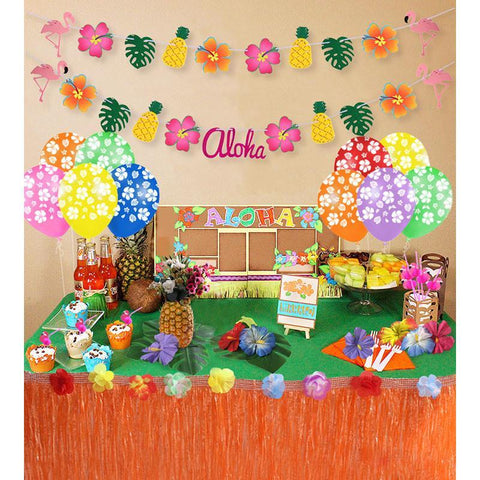 Hawaiian Luau Garland Ribbon Banners
