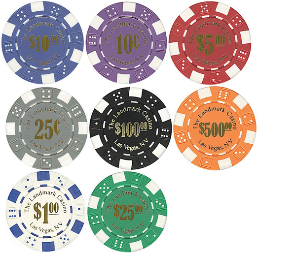 Eternity Sky 11.5-Gram Landmark Casino Poker Chips