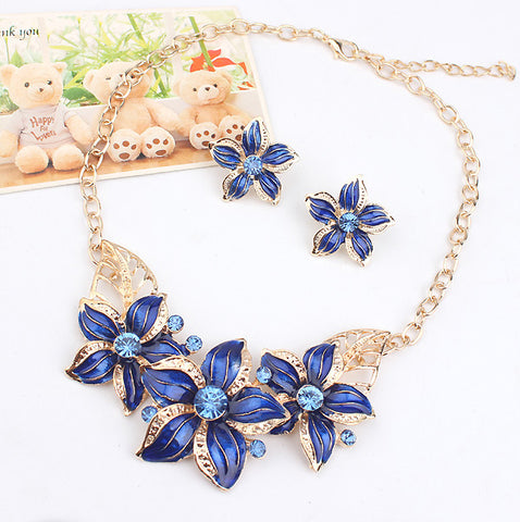 Charm Flower  Fashion Beads Collar Chokers Maxi Necklaces & Pendant Statement Jewelry