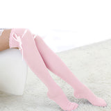 1 Pair Winter Over The Knee Socks Sexy Warm Thigh High Long Knit Cotton Cute Stockings For Girls Ladies Women 5 Solid Color - Happidtime