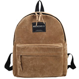 Women Backpack Preppy Suede Backpacks