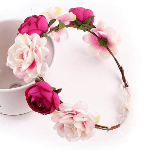 Bohemia Handmade Flower Crown Hairband Garland Tour Flowers wreath Headdress Hair Accessories