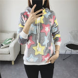 Print Hoodies Women Autumn Winter Long Sleeve Sweatshirt