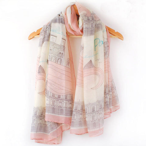1PC Stylish Women Girl Long Print Cotton Scarf  Shawl Large Silk Scarves Pashmina Summer/Winter/Autumn - Happidtime