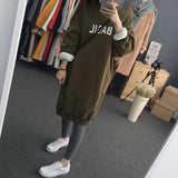 Winter Spring  Thicken Hoodie Dress  Pullover Women Casual Tops