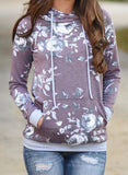 Women's  Winter Sweatshirts Long Sleeve have a large print pocket