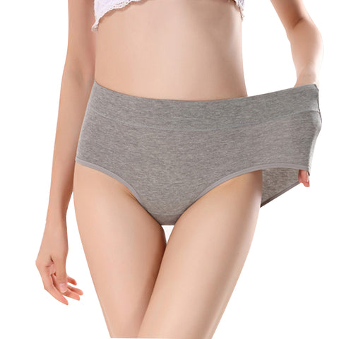 Women's briefs Comfortable and cool bamboo fiber pure color classic high waist underwear