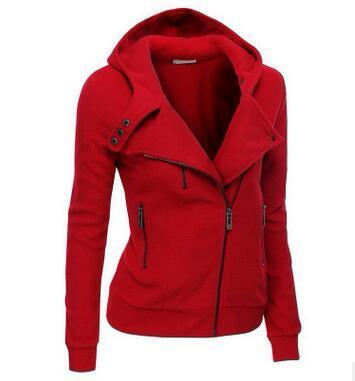Women's wear hoodies zipper and v-neck long sleeve warm  in spring