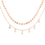 New fashion round bead chain with star necklace set women jewelry