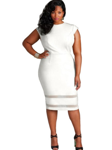 Women Wear Plus Size Round Neck Of  Dress