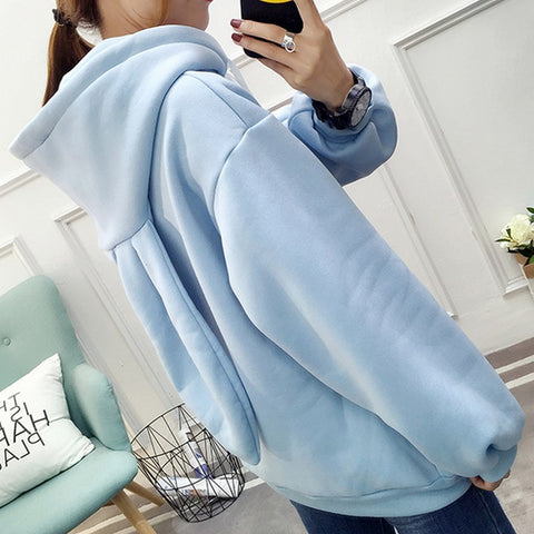 Fashion Sweet Women Hoodies Sweatshirt Embroidery Hooded Rabbit Ears